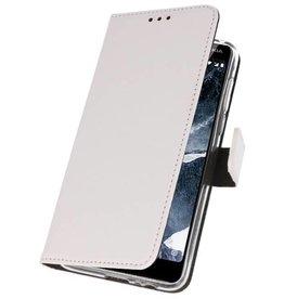 Wallet Cases Hoesje Nokia 5.1 Wit