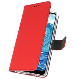 Wallet Cases Hoesje Nokia X5 5.1 Plus Rood