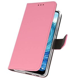Wallet Cases Hoesje Nokia X5 5.1 Plus Roze