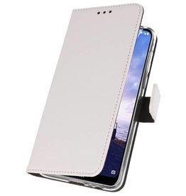 Wallet Cases Hoesje Nokia X6 6.1 Plus Wit