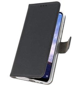 Wallet Cases Hoesje Nokia X6 6.1 Plus Zwart