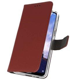 Wallet Cases Hoesje Nokia X6 6.1 Plus Bruin