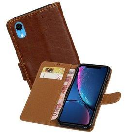Zakelijke Bookstyle Hoesje iPhone XR Bruin