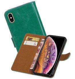 Zakelijke Bookstyle Hoesje iPhone XS Max Groen