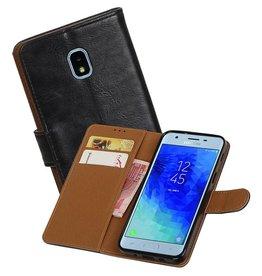 Zakelijke Bookstyle Hoesje Samsung Galaxy J3 (2018) Zwart