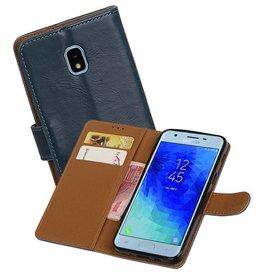 Zakelijke Bookstyle Hoesje Samsung Galaxy J3 (2018) Blauw