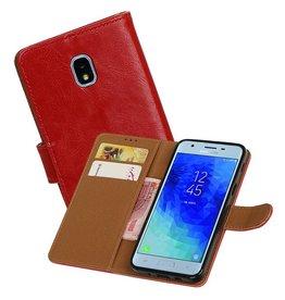 Zakelijke Bookstyle Hoesje Samsung Galaxy J3 (2018) Rood