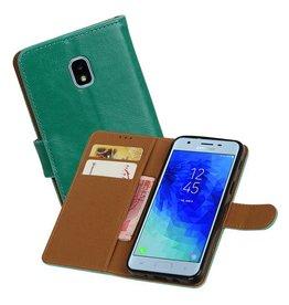 Zakelijke Bookstyle Hoesje Samsung Galaxy J3 (2018) Groen