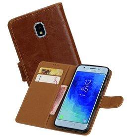 Zakelijke Bookstyle Hoesje Samsung Galaxy J3 (2018) Bruin
