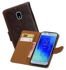 Zakelijke Bookstyle Hoesje Samsung Galaxy J3 (2018) Mocca