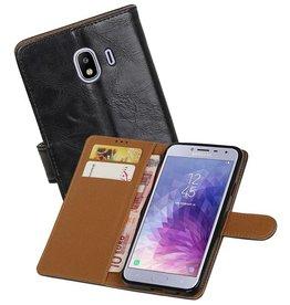 Zakelijke Bookstyle Hoesje Samsung Galaxy J4 Zwart