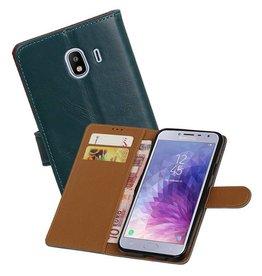 Zakelijke Bookstyle Hoesje Samsung Galaxy J4 Blauw