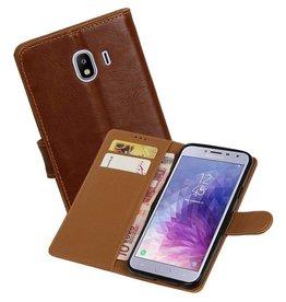 Zakelijke Bookstyle Hoesje Samsung Galaxy J4 Bruin