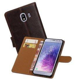 Zakelijke Bookstyle Hoesje Samsung Galaxy J4 Mocca