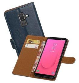 Zakelijke Bookstyle Hoesje Samsung Galaxy J8 Blauw