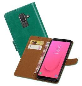 Zakelijke Bookstyle Hoesje Samsung Galaxy J8  Groen