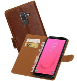 Zakelijke Bookstyle Hoesje Samsung Galaxy J8 Bruin