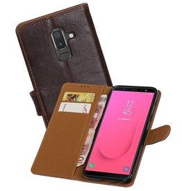 Zakelijke Bookstyle Hoesje Samsung Galaxy J8 Mocca