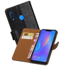 Zakelijke Bookstyle Hoesje Huawei P Smart Plus Zwart