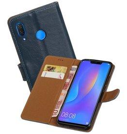 Zakelijke Bookstyle Hoesje Huawei P Smart Plus Blauw