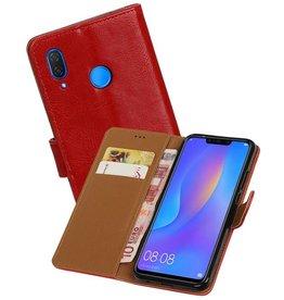 Zakelijke Bookstyle Hoesje Huawei P Smart Plus Rood