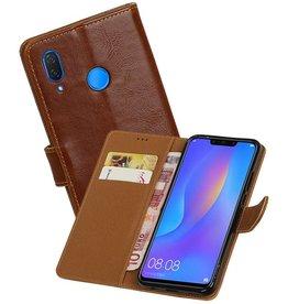 Zakelijke Bookstyle Hoesje Huawei P Smart Plus Bruin