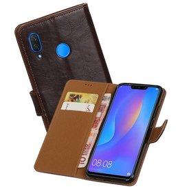 Zakelijke Bookstyle Hoesje Huawei P Smart Plus Mocca