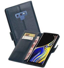 Zakelijke Bookstyle Hoesje Galaxy Note 9 Blauw