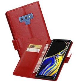 Zakelijke Bookstyle Hoesje Galaxy Note 9 Rood