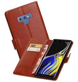 Zakelijke Bookstyle Hoesje Galaxy Note 9 Bruin