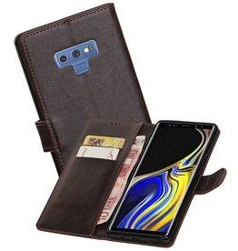 Zakelijke Bookstyle Hoesje Galaxy Note 9 Mocca