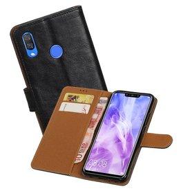 Zakelijke Bookstyle Hoesje Huawei Nova 3 Zwart