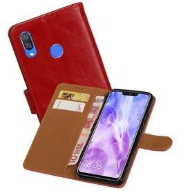 Zakelijke Bookstyle Hoesje Huawei Nova 3 Rood