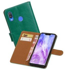 Zakelijke Bookstyle Hoesje Huawei Nova 3 Groen