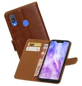 Zakelijke Bookstyle Hoesje Huawei Nova 3 Bruin