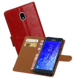 Zakelijke Bookstyle Hoesje Galaxy J7 (2018) Rood