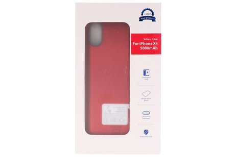 Battery Case voor iPhone XR 5000 mAh Audio Rood