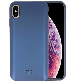Battery Case iPhone XS Max 5000 mAh Blauw