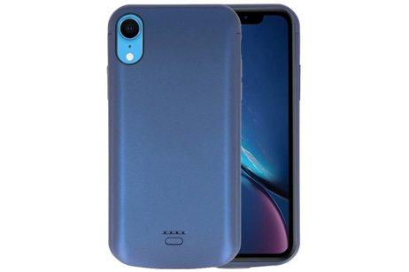 Battery Case voor iPhone XR 5000 mAh Audio Blauw