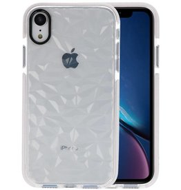 Transparant Geometric Style Siliconen Hoesjes iPhone XR
