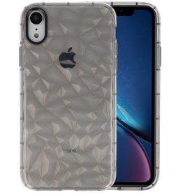Grijs Geometric Style Siliconen Hoesjes iPhone XR