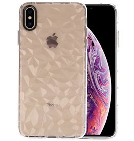 Transparant Geometric Style Siliconen Hoesje iPhone XS Max