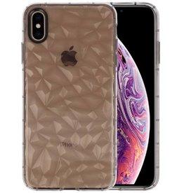 Grijze Geometric Style Siliconen Hoesje iPhone XS Max