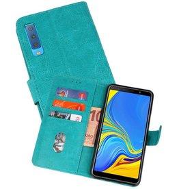 Bookstyle Wallet Cases Hoesje Galaxy A7 2018 Groen