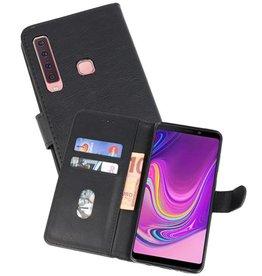 Samsung Galaxy A9 2018 Hoesje Kaarthouder Book Case Telefoonhoesje Zwart