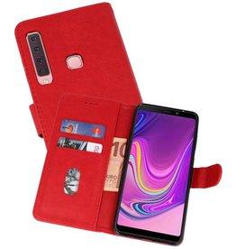 Samsung Galaxy A9 2018 Hoesje Kaarthouder Book Case Telefoonhoesje Rood