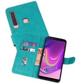 Samsung Galaxy A9 2018 Hoesje Kaarthouder Book Case Telefoonhoesje Groen