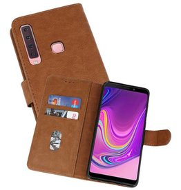 Samsung Galaxy A9 2018 Hoesje Kaarthouder Book Case Telefoonhoesje Bruin