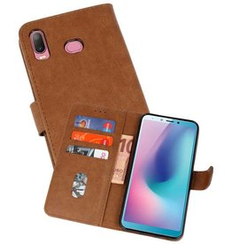 Bookstyle Wallet Cases Hoesje Galaxy A6s Bruin