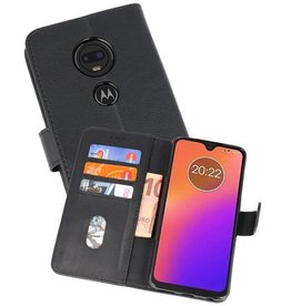 Motorola Moto G7 Hoesje Kaarthouder Book Case Telefoonhoesje Zwart